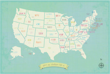 United States Map, usa map for kids, wall map, usa map wall art, travel wall art