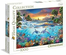 Clementoni UNDER THE SEA Jigsaw PUZZLE 1000 pieces Dolphins