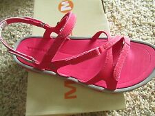 NEW MERRELL ENOKI RED STRAPPY SANDALS WOMENS 11 EASY TIE STRAPS FREE SHIP