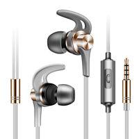 In Ear Sport Earphone Wired Headset HIFI Earbud Stereo Bass Headphone  Mic 3.5mm