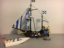 Vintage LEGO Pirates 6274 Caribbean Clipper Ship With Extra Boat & Mini Figures
