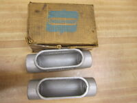 """Crouse & Hinds C47 Conduit Box Size 1 1/4"""" (Pack of 2)"""