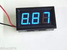 12v 24v Azul Voltímetro indicador de batería Panel Calibre Led Kit De Coche Solar