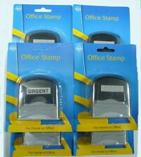 SET OF 6 *SELF INKING OFFICE STAMPS* PAID-FAXED-URGENT-COPY-RECEIVED-POSTED