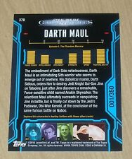 2013 Topps Star Wars Galactic Files serie 2 BLUE parallel DARTH MAUL #379 1/350