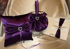 Lovely Bridal Set Ring Pillow,Flower Girl Basket, guest book