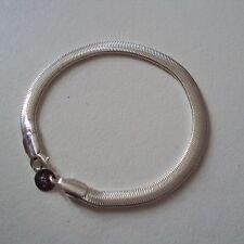 Seulement 7 euros !   Bracelet argent sterling 925, maille 'serpent' large, neuf