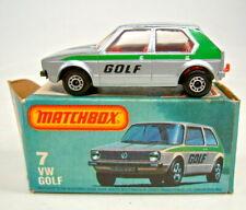 "Matchbox Superfast Nr. 7C VW Golf silber in rarer ""L"" Box mit silbernem Modell"