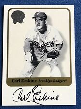 2001 FLEER GREATS OF THE GAME AUTOGRAPH CARL ERSKINE ON CARD AUTO, DODGERS