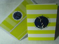 Burgoyne Handmade Greeting - Anchor Blank Note Card - NEW