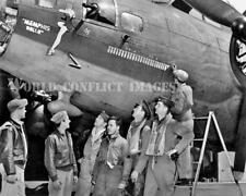 USAAF WW2 B-17 Bomber Memphis Belle #1 25th Mission Crew 8x10 Nose Art Photo