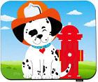 Swono Dog Mouse Pads Smiling Dalmatian Pup Wearing A Fireman's Hat and Wagging