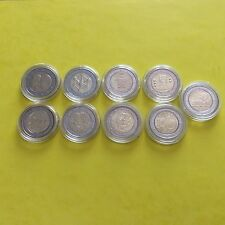 Lot de 9 pièces de 2 € commémoratives Belgique 2005/06/08/09/10/11/12/13/14