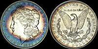 1880-O MORGAN SILVER $1 DOLLAR BEAUTIFUL CIRCLE COLOR TONED HIGH GRADE COIN