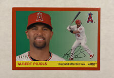 2020 Topps Archives Red #15 Albert Pujols #/75 Angels