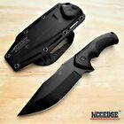 9' Tactical Knife FIXED BLADE KNIFE w/ Kydex Sheath Coyote Brown Survival Knife