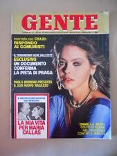 GENTE n°6 1981 Ornella Muti Maria Callas Craxi Reagan Andreotti  [G771]