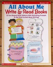 Scholastic ALL ABOUT ME: Write & Read Books 15 Shaped Book Patterns Grades 1-2