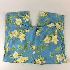 Kylani Bay Women's Hawaiian Aloha Pants 100% Silk Size 14