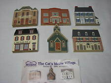 Lot Cats Meow Village Series Ix American Red Cross Treble Clef Opera House Jewel