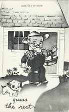 "Farmer Humor ""Come On a My House, Guess the Rest"" Postcard"