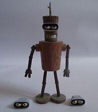 Toynami Futurama Bender en bois (Figurine articulée) (Unboxed) - modèle de jouet Robot Sci-Fi