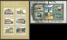 BC869 2010 S. TOME & PRINCIPE ARCHITECTURE TRADITIONAL HOUSES 1KB+1BL MNH