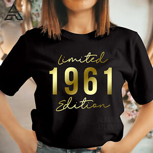 60th BIRTHDAY Tshirt Retro Vintage LIMITED EDITION 1961 gift for Mum Dad 500_G