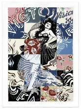 FAILE print Visions Victorie signed & Numbered stored flat