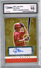 2007 Jay Bruce Just Stars Gold Autograph Auto Rookie Gem Mint 10 #ed 43/50