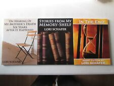 LORI SCHAFER LOT OF 3 LARGE PRINT PAPERBACKS Hearing of My Mother's Death Memoir