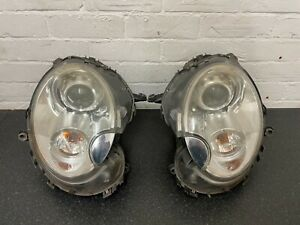 MINI R56 ONE COOPER S JCW COMPLETE XENON HEADLIGHTS WITH WASHER JETS