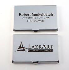 Stainless Steel Business Card Case - Free Custom DARK Laser Engraving