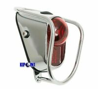 New Bicycle Rear LED Tail Lights - Chrome Old School Classic Tour Vintage Casual