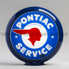 "Pontiac Service 13.5"" Gas Pump Globe w/ Dark Blue Plastic Body (G163)"
