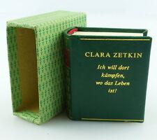 Minibuch: Clara Zetkin ,Ich will dort Kämpfen wo das Leben ist,Berlin 1980 /r609