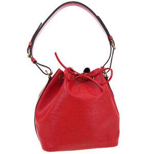 LOUIS VUITTON PETIT NOE DRAWSTRING SHOULDER BAG RED EPI M44107 AR0944 02119