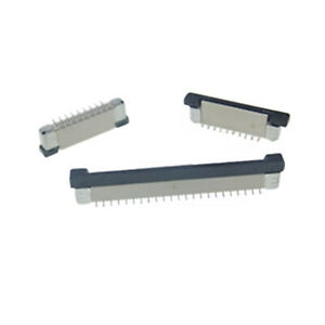 Pitch 0.5mm Vertical SMD FFC/FPC Connector Offset With Lock 4P-60P For FFC Cable