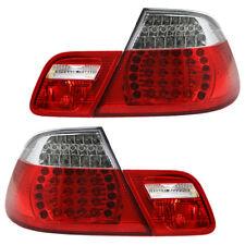 LED Rückleuchten Heckleuchten Set BMW E46 Cabrio Bj. 00-07 Rot/Chrom