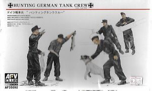 AFV Club, WWII Hunting German Tank Crew, Figures in 1/35 092 DO ST