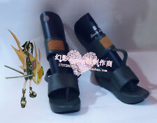 Shaman King Yoh Asakura Black Halloween Girls Summer Cosplay Shoes H016