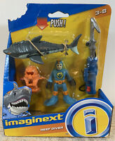 Imaginext Deep Sea Reef Diver With Shark Harpoon Series New