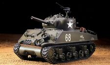 RC Panzer US M4A3 Sherman Heng Long 1:16 Rauch Sound Metallgetriebe 2.4 GHz Neu