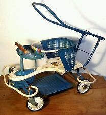 OLD VTG METAL OAK HILL KIDDIE TODDLER BABY CHILD WALKER STROLLER