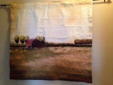 """Country Sunset Farm red Barn Sheep  42""""x44"""" Jacquard Tapestry Wall Hanging NEW"""