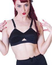 Soutien gorge cone pointu bullet bra noir repro 1940 retro vintage lingerie sexy