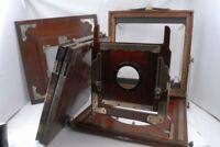 AsIs Wood 10x12 Field Camera Parts w/2 Holders , 4 3/4 x 6 1/2 Back *F1636