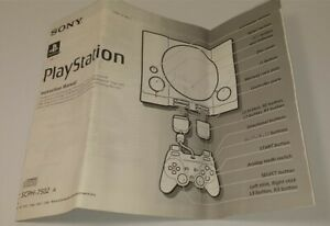 Playstation 1 Console Instruction Manual Booklet SCPH-7502A Sony PS1