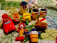 Vintage Lot of 9 McDonalds Transformer Food Items 1989 & 1990 Happy Meal Toys