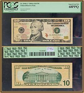 2004A Star $10 Federal Reserve Note PCGS 68 PPQ Superb Gem New Unc FRN